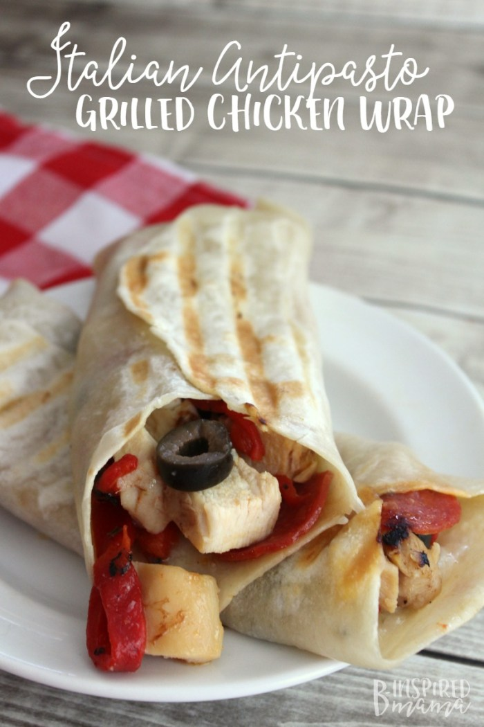 Easy Italian Antipasto Grilled Chicken Wrap Recipe