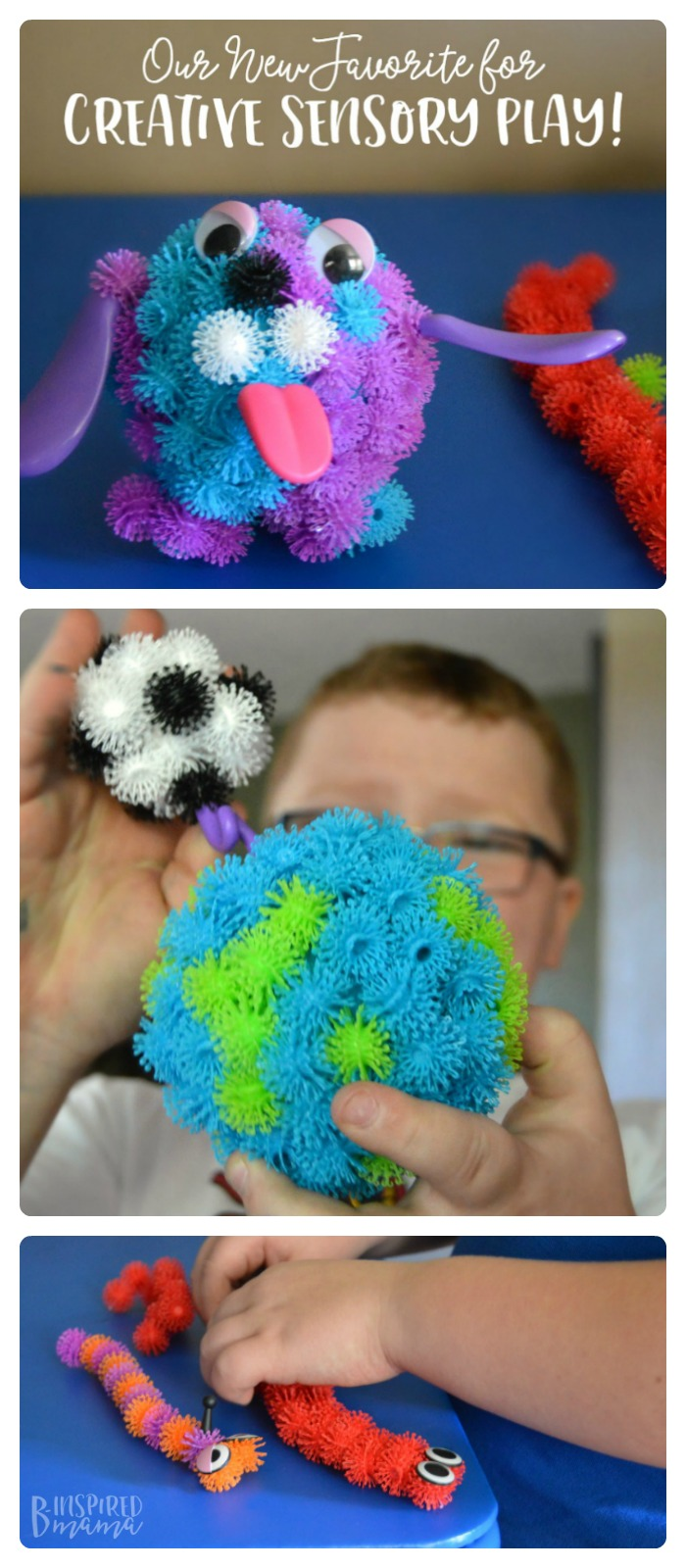 Check out our new tactile sensory favorite! Perfect for kids sensory play and creative kids sculpture projects, too. #kids #sensory #kidsactivities #sensoryactivities #sensoryplay #play #playmatters #kbn #binspiredmama #toys