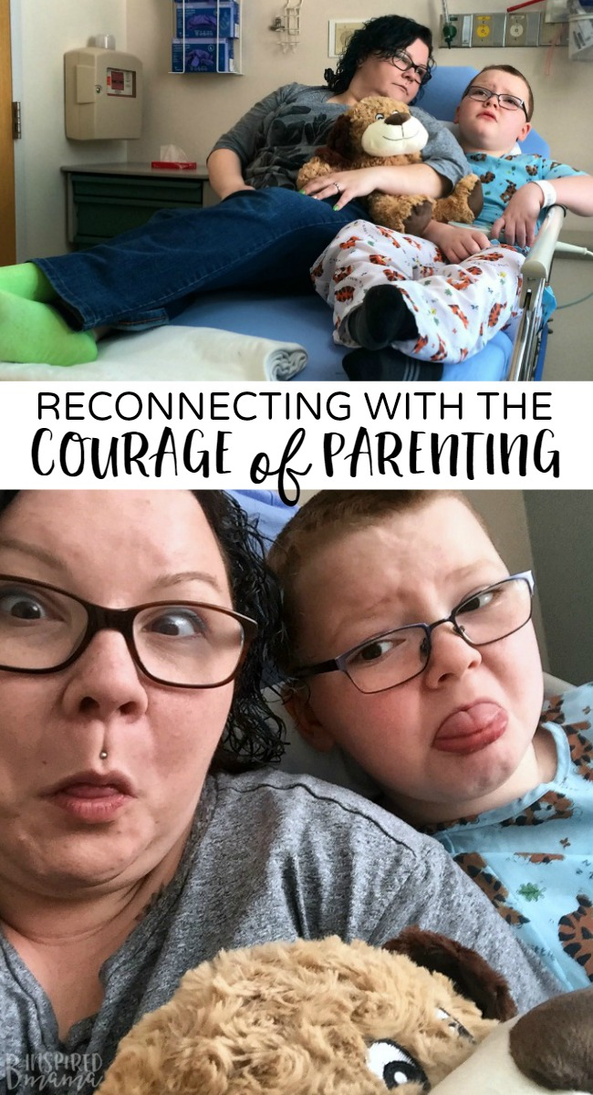 Reconnecting with the Courage of Parenting - at B-Inspired Mama