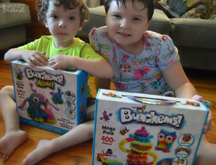 The kids getting ready for some creative play with our new sensory favorite - at B-Inspired Mama