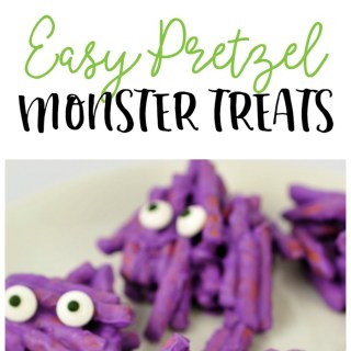 Easy Pretzel Monster Halloween Treats