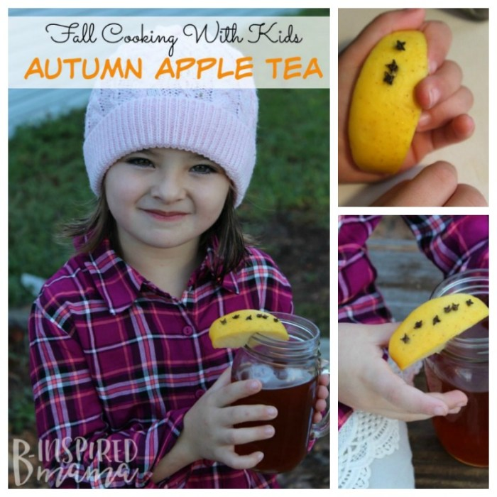 Have some fun in the kitchen cooking with the kids this Fall with this Easy and Delicious Autumn Apple Tea Recipe