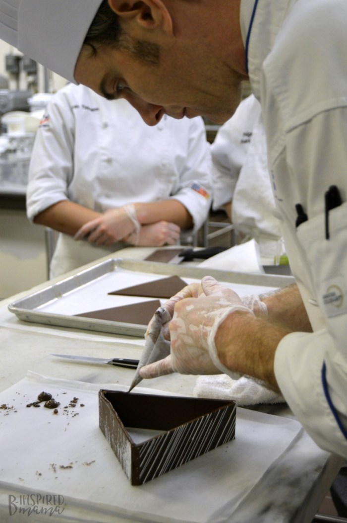 In Chocolate Works Lab with Chef Charles Niedermyer and the Chefs in Training at the Penn College Cultinary Arts Program