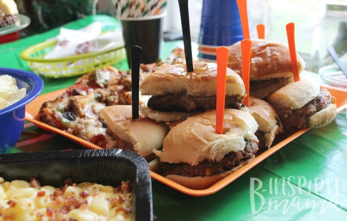 Serve finger food for easy football party food!