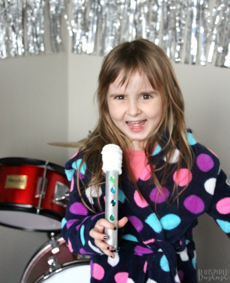 Easy DIY Kids Microphone Toy - Inspired by the Movie SING - Perfect for kids imaginative play and encouraging a love of music and dance