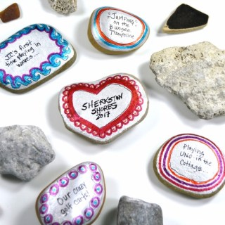 Family Vacation Memory Painted Stones - Perfect for preserving all the fun famliy vacation memories