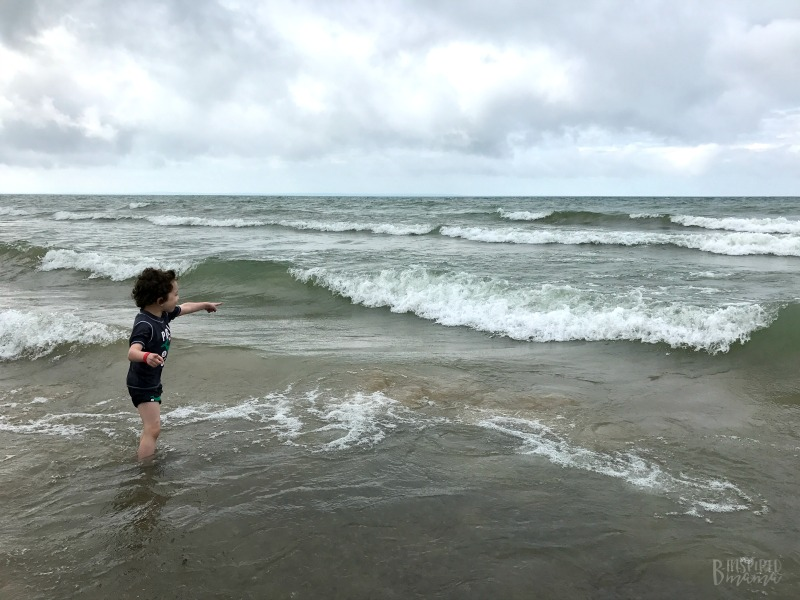 JC seeing Waves for the First Time - at Sherkston Shores