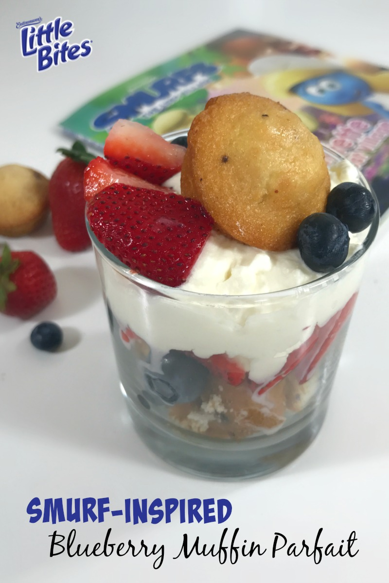 Super Fun Smurf Blueberry Muffin Parfait Recipe