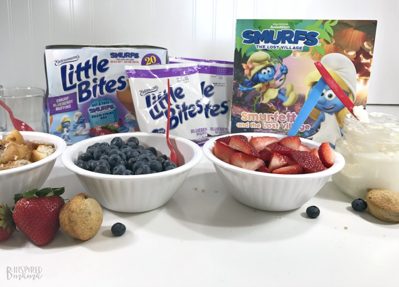 Super Fun Smurf Blueberry Muffin Parfait Recipe