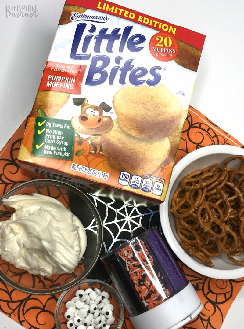 Ingredients - Spider Bites for a fun Halloween Snack for Kids