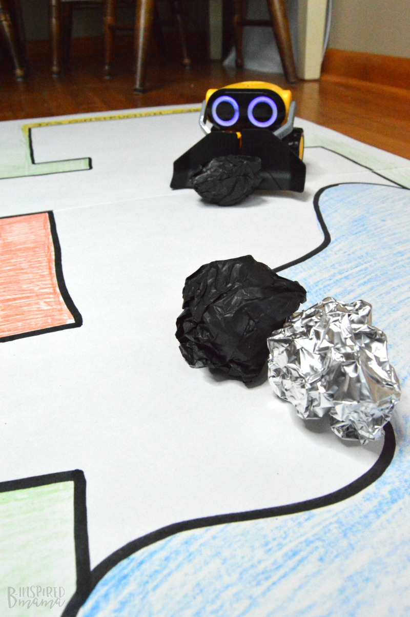 Playing with WowWee's BotSquad on our Homemade Playmat - at B-Inspired Mama