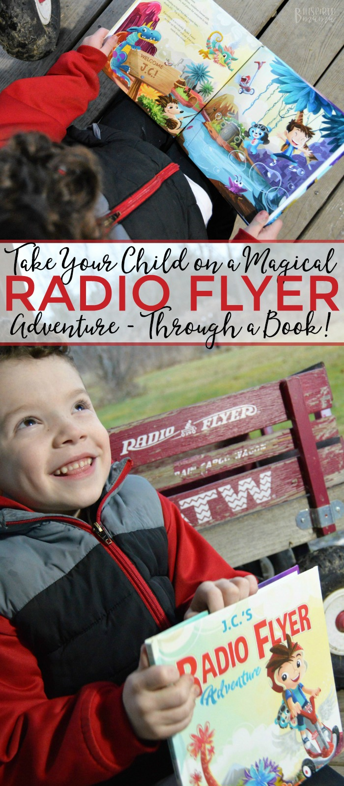 Take your child on a magical Radio Flyer Adventure - full of the storytelling, imagination, & outdoor play Radio Flyer has inspired for 100 years - through a BOOK! An awesome personalized children's book that's perfect for getting any young reader excited about reading AND outdoor play, too! #play #kids #playmatters #radioflyer #books #childrensbooks #kbn