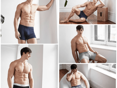 Pietro Boselli in his Calvin Klein Underwear for Simons