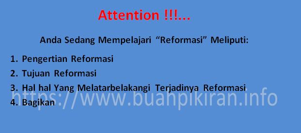 pengertian reformasi menurut ahli