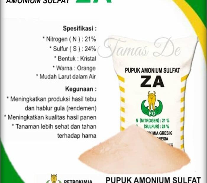 manfaat pupuk za untuk tanaman
