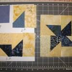 Scrappy pinwheel blocks