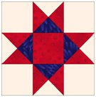Piecing the Quarter Square Triangle Units on the Ohio Star Block