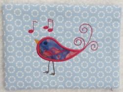 Songbird Mug Rug Embroidery Design Giveaway