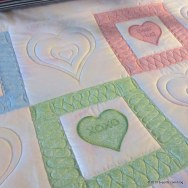 Candy Hearts Quilting Progress