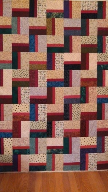 Shadow Rail Fence quilt