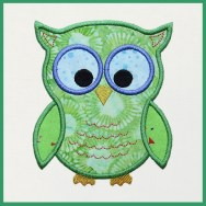 Cute Owl Machine Embroidery Applique