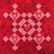 Quick Table Topper with the Queen of Hearts Machine Embroidery