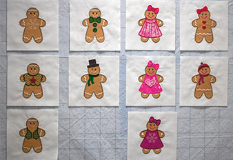 Gingerbread Cookie Machine Embroidery