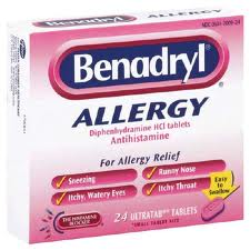 allergy meds exercise