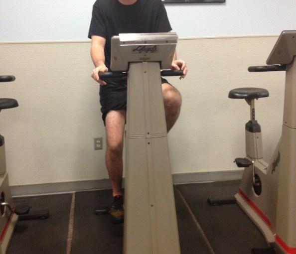 Biking better knee straight