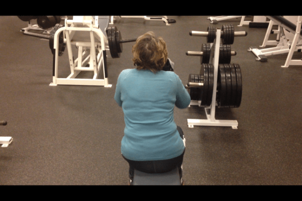 Diane lateral tilt squat portion