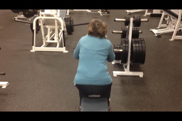 Diane lateral tilt squat up portion