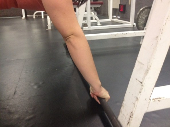 Push ups wrists straight with bar