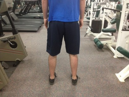 Standing neutral hip positioning
