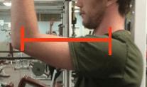 Bent arm moment arm close up