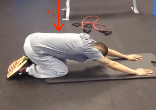 Backward Rocking Almost End Position with line