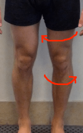 Jeremy Knee Close Up with rotational lines