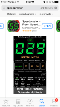 Speedometer App IN STORE