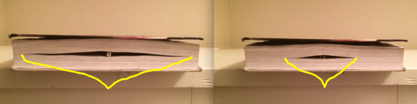 Pen Scre book side by side with lines