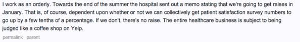 Reddit healthcare comment