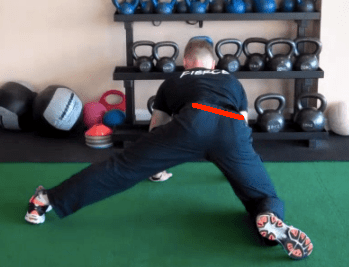 Split Stance Adductor with line 4