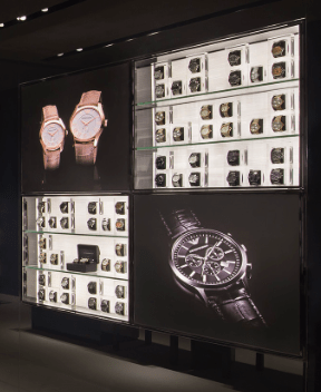 Watch display vertical