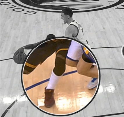 Kyrie Irving knee contact