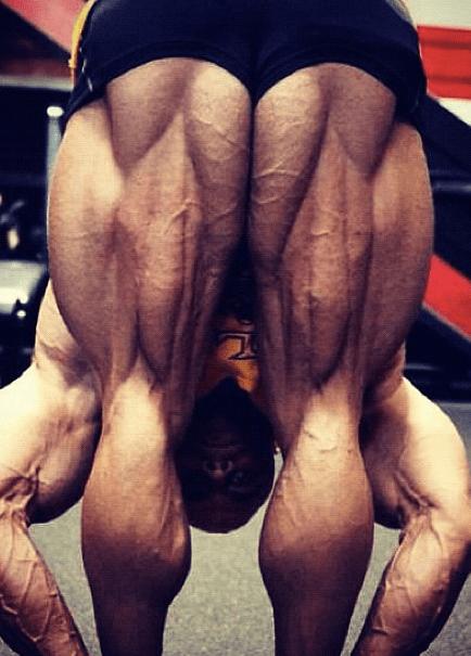 Bodybuilders are often quite symmetrical in their alignment.