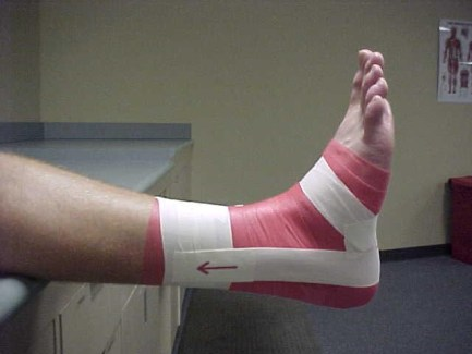 ankle taping stirrup