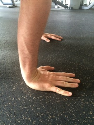 Push ups wrists extended