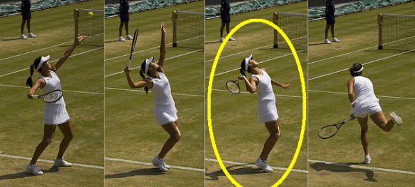 tennis serve lack of laying back