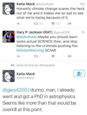 astrophysics climate change twitter