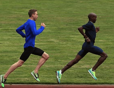 Galen Rupp with Mo Farah