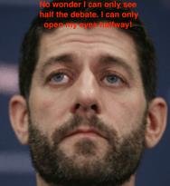 Paul Ryan eyebrows halfway