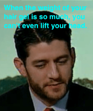 Paul Ryan hair gel heavy